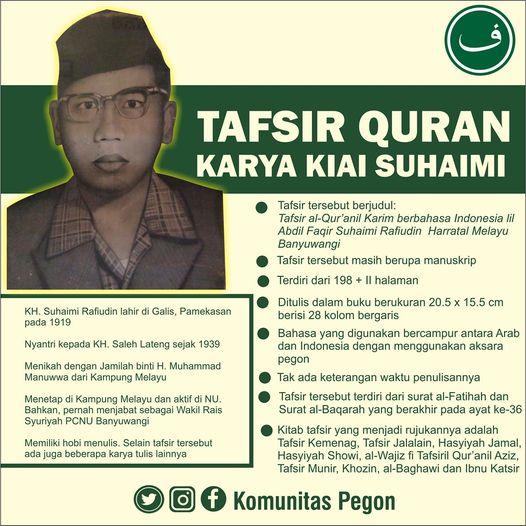 Tafsir Qur'an Karya Kiai Suhaimi Rafiudin, Kampung Melayu Banyuwangi