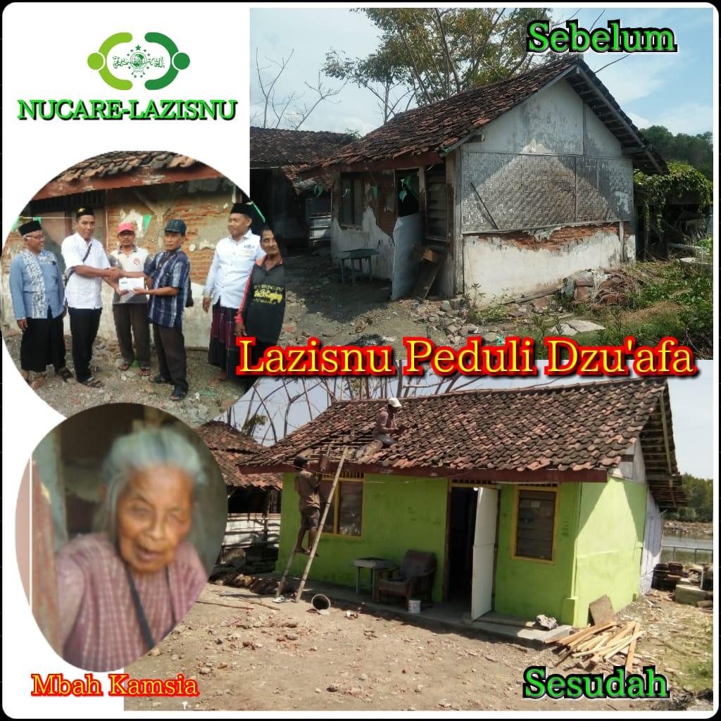 LAZISNU Ranting Karangrejo Terus Fasilitasi Bedah Rumah Dhuafa